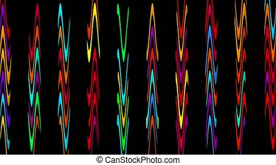 color waveform rhythm background