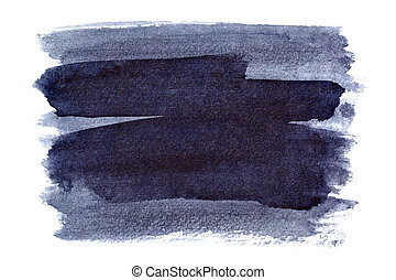 Bluish brush strokes isolated on the white background....