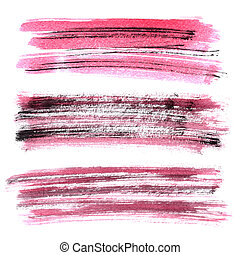Red grunge brush stroke - Set of red grunge brush strokes...