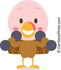 Stronger turkey design style character