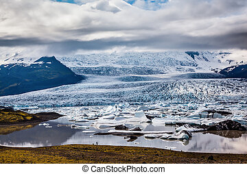 The grand glacier is melting at the edges - The grand...