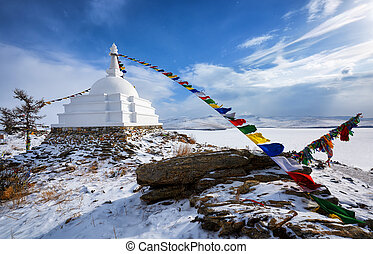 Enlightenment Stupa - a place of meditation on an...
