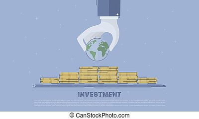 Global investment. Concept business vector