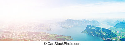 Lake Lucerne - View of Lake Lucerne from the mount Pilatus....