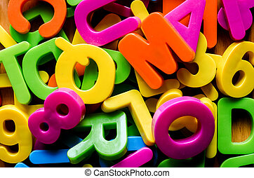 Colorful letters of the alphabet