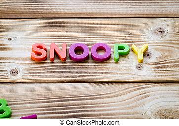 詞,  Snoopy