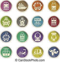public transport icon set - public transport web icons on...