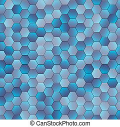 Abstract blue hexagon background. Vector illustration for...