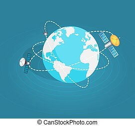 Two Artificial Earth Satellites Around Planet