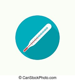 Medical mercury thermometer for measuring body temperature....