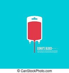 Abstract background with blood bag. donation. Vector image...