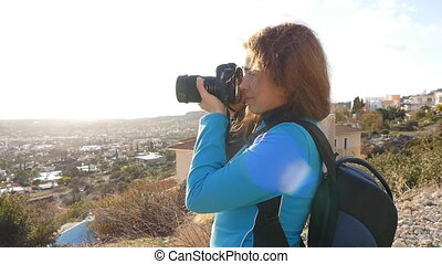 Travel photographer taking pictures - Photographer taking...