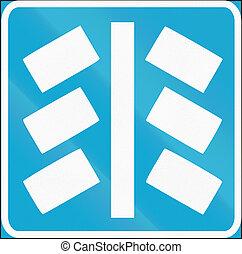 Estonian regulatory road sign - Parking position.