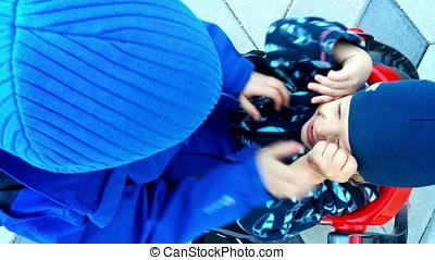 Little boys having fun