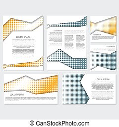 halftone Flyer style background Design Template,Vector...