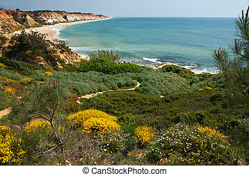 Algarve, Portugal - coastal view at Algarve, Portugal