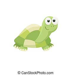 cartoon baby animal isolated - Adorable turtle illustration....