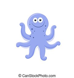cartoon baby animal isolated - Adorable octopus...