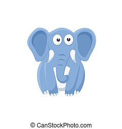 cartoon baby animal isolated - Adorable elephant...