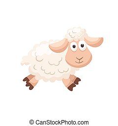 cartoon baby animal isolated - Adorable sheep illustration....