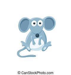 cartoon baby animal isolated - Adorable mouse illustration....