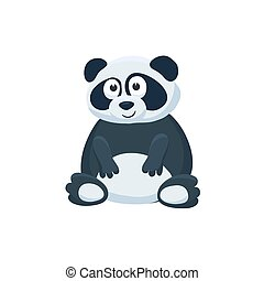 cartoon baby animal isolated - Adorable panda illustration....