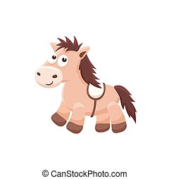 cartoon baby animal isolated - Adorable pony illustration....