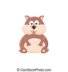 cartoon baby animal isolated - Adorable hamster...