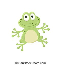 cartoon baby animal isolated - Adorable frog illustration....