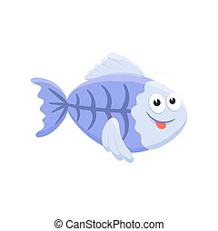 cartoon baby animal isolated - Adorable x-ray fish...
