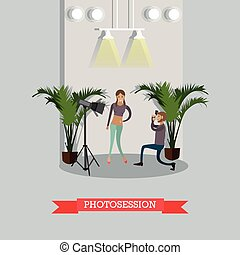 Photosession concept vector illustration in flat style -...