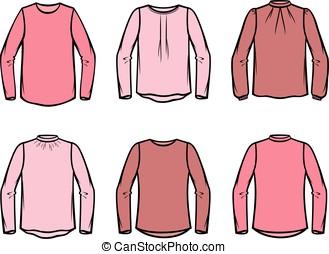 Women's blouse - Vector illustration of women's knitted...