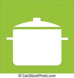 Vecteur-casserole - Casserole sur fonds vert
