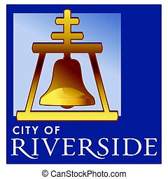 Seal of Riverside, California, USA. Vector Format.