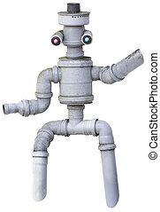 Robot Puppet Cutout