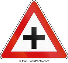 Road sign used in Malta - Intersection