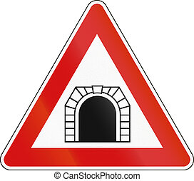 Road sign used in Malta - Tunnel