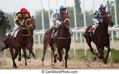 """Horse racing. - The race for the prize of the \""""Eolovi..."""