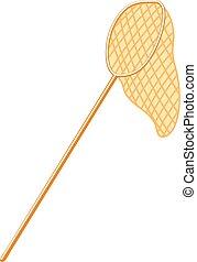 butterfly net - Butterfly net. Beige color. A white...