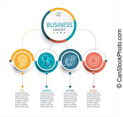 Business Infographic template, vector. - Vector illustration...