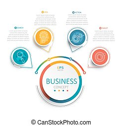 Vector illustration infographic template. - Vector...