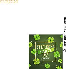 St. Patrick Day poster.