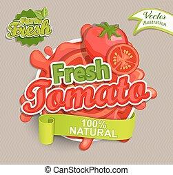 Fresh tomato logo. - Fresh tomato logo lettering typography...