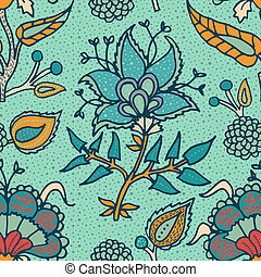 Indian National paisley ornament for cotton, linen fabrics....