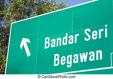 Traffic Signboard, Bandar Seri Begawan, Brunei - Image of a...