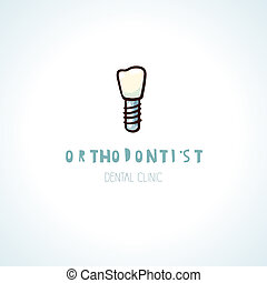 Healthy orthodontist teeth. Vector logo - Healthy...