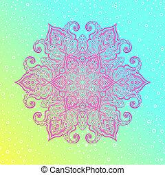 Mandala. Floral vintage round amulet tatoo - Mandala. Floral...
