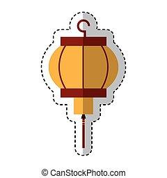 asian culture lantern icon vector illustration design