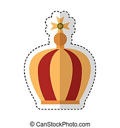 virgin mary crown icon vector illustration design