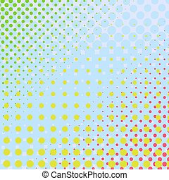 Set of Halftone Dots. Colorful Background